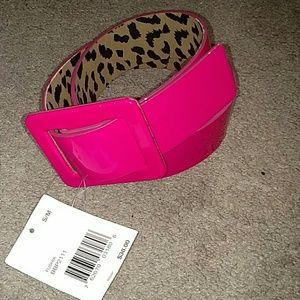 NWT Betsy Johnson Fusia Pink Belt
